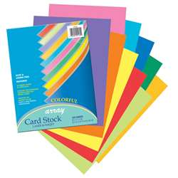 Array Card Stock Assorted 100 Sht 10 Colors By Pacon