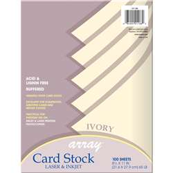 Array Card Stock Ivory By Pacon