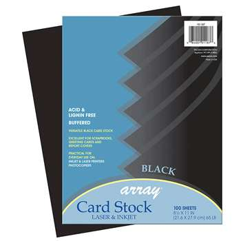 Array Card Stock Black 100 Sheets By Pacon
