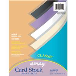 Array Card Stock Classic Colors 100 Count 8.5 X 11 By Pacon