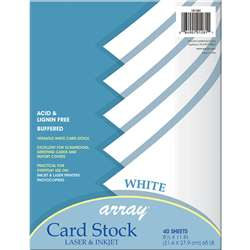 White Card Stock 40 Sheet By Pacon