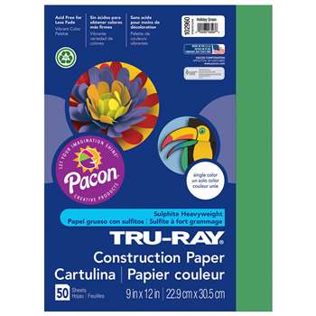 Tru-Ray Construction Paper 9 X 12 Holiday Green By Pacon