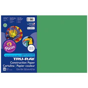 Tru-Ray Construction Paper 12 X 18 Holiday Green By Pacon