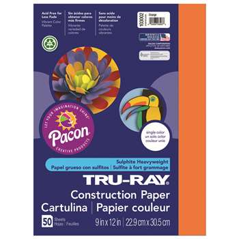 Tru-Ray Construction Paper 9 X 12 Orange By Pacon
