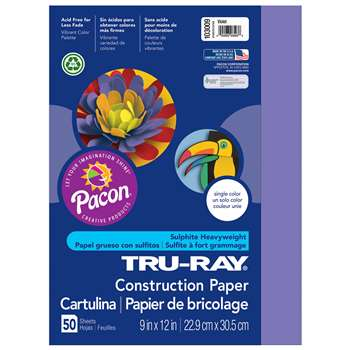 Tru-Ray Construction Paper 9 X 12 Violet By Pacon