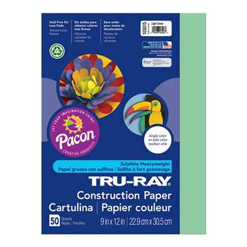 Tru-Ray Construction Paper 9 X 12 Light Green By Pacon