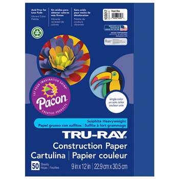 Tru-Ray Construction Paper 9 X 12 Dark Blue By Pacon