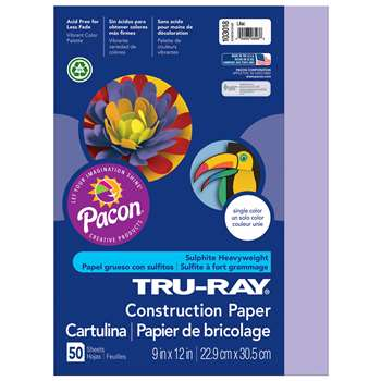 Tru-Ray Construction Paper 9 X 12 Lilac By Pacon