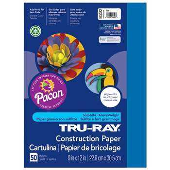 Tru-Ray Construction Paper 9 X 12 Blue By Pacon