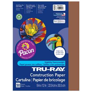 Tru-Ray Construction Paper 9 X 12 Brown By Pacon