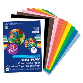 Tru-Ray Construction Paper 9 X 12 Assorted By Pacon