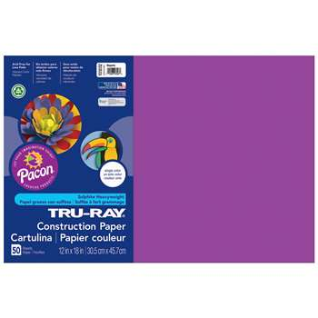Tru-Ray Construction Paper 12 X 18 Magenta By Pacon