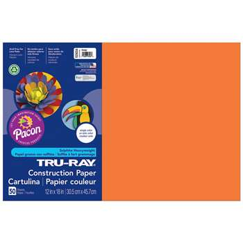 Tru-Ray Construction Paper 12 X 18 Orange By Pacon