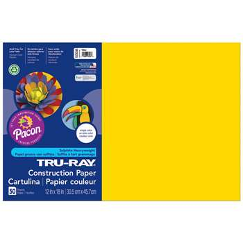 Tru-Ray Construction Paper 12 X 18 Yellow By Pacon