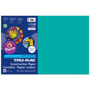 Tru-Ray Construction Paper 12 X 18 Turquoise By Pacon