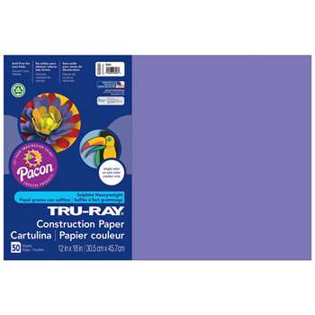 Tru-Ray Construction Paper 12 X 18 Violet By Pacon