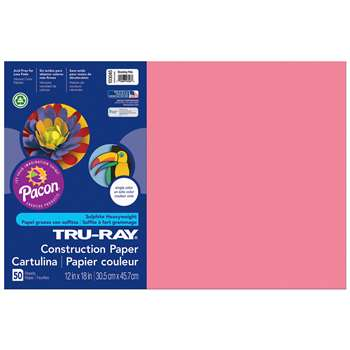 Tru-Ray Construction Paper 12 X 18 Hot/Shocking Pink By Pacon