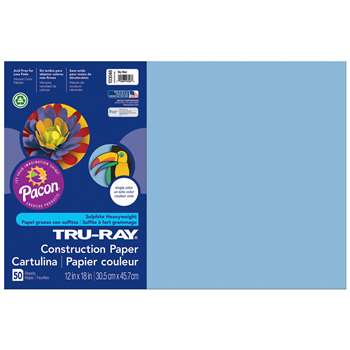 Tru-Ray Construction Paper 12 X 18 Sky Blue By Pacon