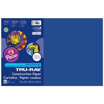 Tru-Ray Construction Paper 12 X 18 Dark Blue By Pacon