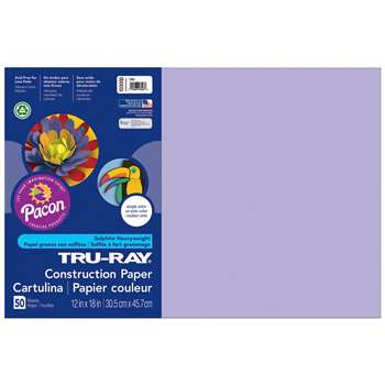 Tru-Ray Construction Paper 12 X 18 Lilac By Pacon