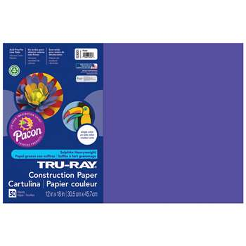 Tru-Ray Construction Paper 12 X 18 Purple By Pacon