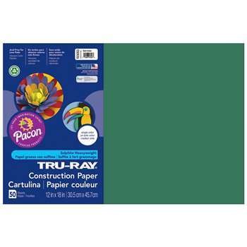 Tru-Ray Construction Paper 12 X 18 Dark Green By Pacon