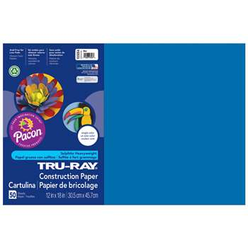 Tru-Ray Construction Paper 12 X 18 Blue By Pacon