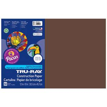 Tru-Ray Construction Paper 12 X 18 Dark Brown By Pacon