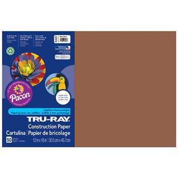 Tru-Ray Construction Paper 12 X 18 Brown By Pacon