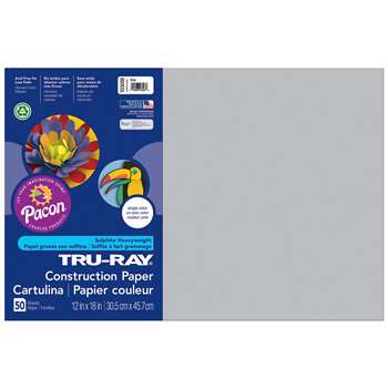 Tru-Ray Construction Paper 12 X 18 Gray By Pacon