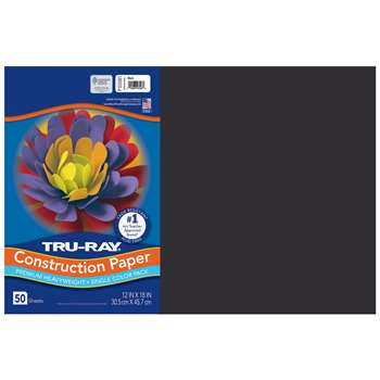 Tru-Ray Construction Paper 12 X 18 Black By Pacon