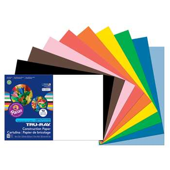 Tru-Ray Construction Paper 12 X 18 Assorted By Pacon