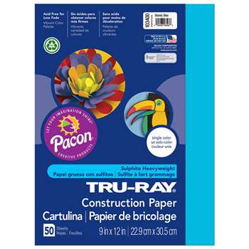 Tru Ray Atomic Blue 9X12 Fade Resistant Constructi, PAC103400