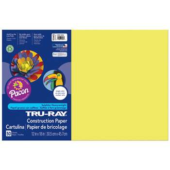 Tru Ray Lively Lemon 12X18 Fade Resistant Construc, PAC103403