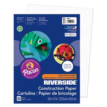 Riv Gw 9X12 White 50Ct-50 By Pacon