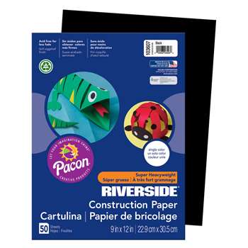 Riv Gw 9X12 Black 50Ct-50 By Pacon
