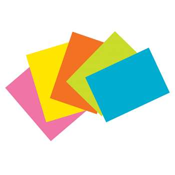 Super Bright Index Cards 4X6 Unrule, PAC1721