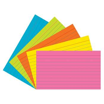 Super Bright Index Cards 3X5 Ruled, PAC1726