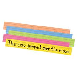 Peacock Super Brt Sentence Strips 3 X 24 Assorted Colors 100/Pk By Pacon