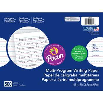 Dnealian Multi-Program Handwrting 1 10 1/2 X 8 1/2 Long By Pacon