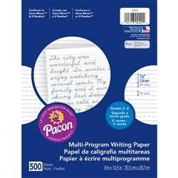 Writing Paper 500 Sht 8 X 10 1/2 Inch Rule Short Rule By Pacon