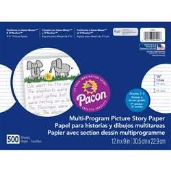 Picture Story Paper 500 Sht 12 X 9 1/2 In Long Rule By Pacon