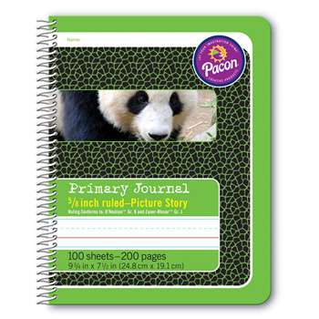 "Primary Journal 5/8"" Ruled Picture Story Spiral B, PAC2434"