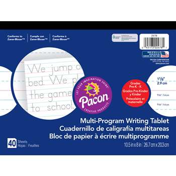 Writing Paper 40 Sht 10.5 X 8 1 1/8 In Rule By Pacon