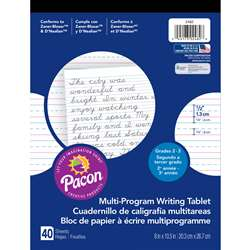 Writing Paper 40 Sht 8 X 10 1/2 Inch Short Rule By Pacon
