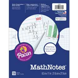 "Mathnotes White 150 Ct 8.5"" X 11"" Es By Pacon"