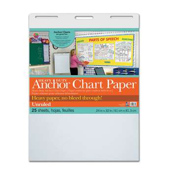 Heavy Duty Anchor 24X32 Unruled Chart Paper, PAC3371