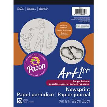Art1St Newsprint Pad 9X12 50 Sht By Pacon