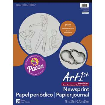 "Art1St Newsprint Pad 18X24"" 50 Sht By Pacon"