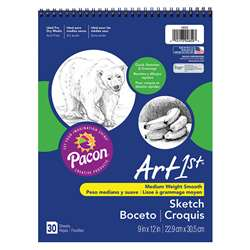 "Art1St Sketch Book 9X12"" 30 Sht Wht By Pacon"
